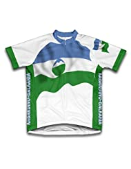 Kabardino Balkaria Flag Short Sleeve Cycling Jersey for Women