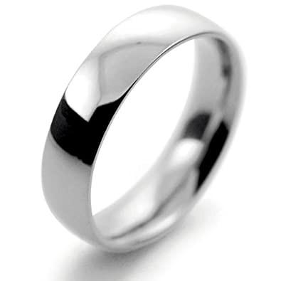 Palladium Wedding Ring Court Medium Heavy - 5mm