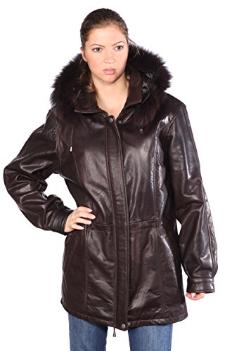 Christian NY Women's Mandy Leather Parka