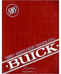 1991 Buick Reatta Riviera Shop Service Repair Manual Book Engine Drivetrain