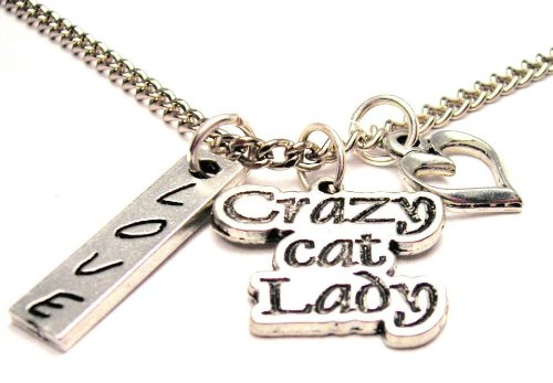 "Crazy Cat Lady 18"" Fashion Necklace"