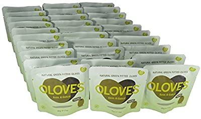 Oloves Olives Basil and Garlic (Pack of 30) from Oloves