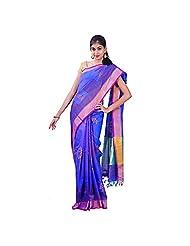 Urvashi Blue & Pink Cotton Silk Saree (Urvasi 050)