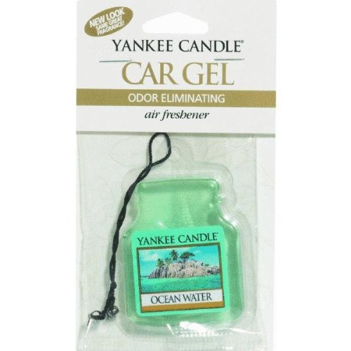 Yankee Candle Car Gel Odor Eliminating Hanging Air Freshener, Ocean Water Scent