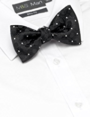 Silk Rich Textured Circle Bow Tie