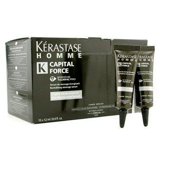 ケラスターゼ オムキャピタルフォースリバイタライジングマッサージリンスーアウトセラム 15x12ml 0.4oz