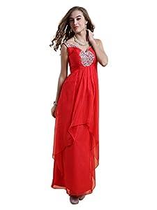 V-neck Chiffon/Polyester/Satin Evening Dress/Bridesmaid Dress/Prom Dress/Quinceanera Dress/Party Dress/Wedding Dress