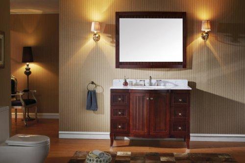 Virtu Usa Es-52048-Wmro-Ac Khaleesi 48-Inch Single Bathroom Vanity Set, Cherry