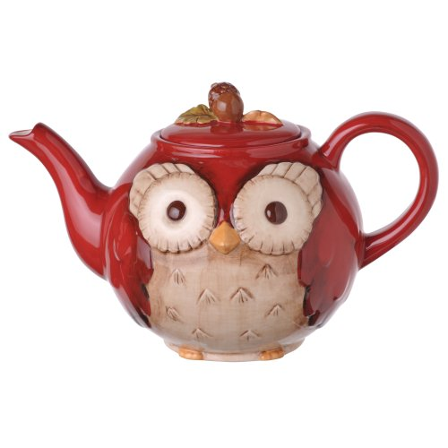 Grasslands Road 2-Pack Ceramic Owl Teapot, 6-Inch