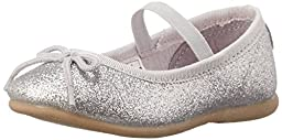 carter\'s Ruby Ballet Flat (Toddler/Little Kid), Silver, 10 M US Toddler