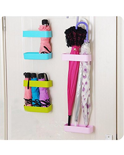Umbrella rack Wet umbrella holder Plastic wrap holder Adhesive storage organizer (Pack of 3)