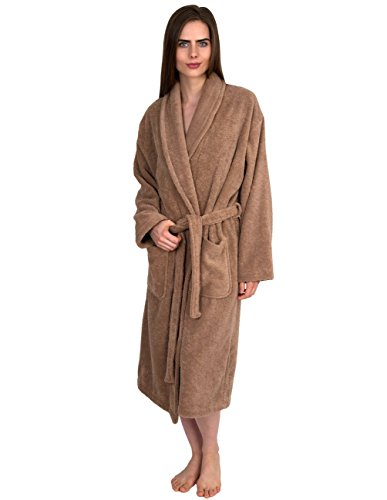1e40878152 TowelSelections Organic Turkish Cotton Bathrobe Terry Shawl Robe for Women  Made in Turkey Small Medium