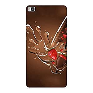 Straberry And Chocolates Multicolor Back Case Cover for Huawei P8