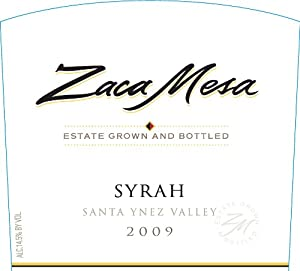 2009 Zaca Mesa Winery Syrah Santa Barbara County, Santa Ynez Valley 750 mL