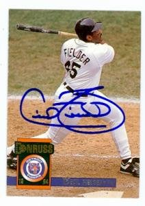 Cecil Fielder autographed baseball card (Detroit Tigers) 1994 Donruss #27