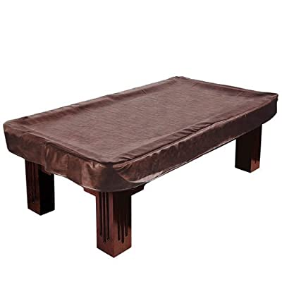 9-Foot Brown Heavy Leatherette Billiard Table Cover by Felson Billiard Supplies