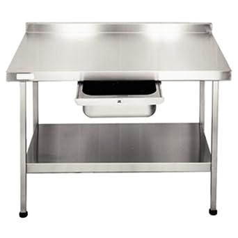 Franke F20600W murale en acier inoxydable Table, Entièrement assemblé