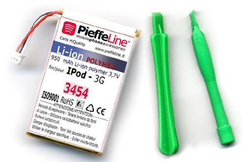 Batteria per APPLE IPOD 3G da 950 MAH AI POLIMERI DI LITIO