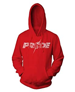 UFC PRIDE Logo Pullover Hoodie, Small, Red