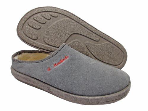 Cheap Andres Machado Men's Gray Comfortable Slippers AM615 (B005MSDZYI)