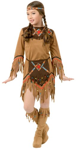 Charades White Dove Indian Girl Kids Costume