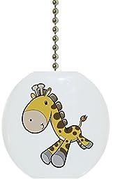 Carolina Hardware and Decor 1660F Baby Giraffe Running Ceramic Fan Pull