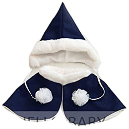 H/B Cute Baby Kid Girls Warm Fall Winter Hat Cloak Sets In 4 Colors