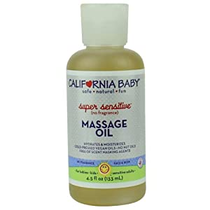 California Baby Massage Oil - Super Sensitive, 4.5 oz