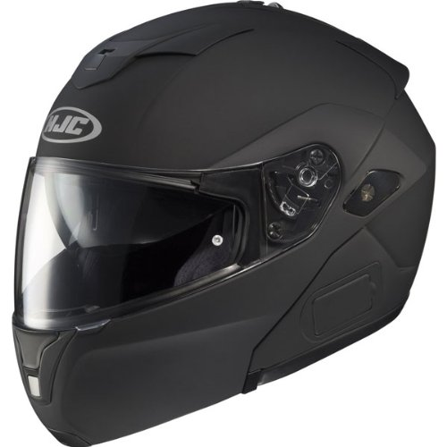 Hjc Solid Men'S Sy-Max Iii Street Racing Motorcycle Helmet - Matte Black / Small