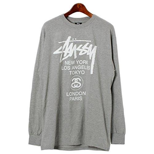(ステューシー)STUSSY LS WORLD TOUR Tシャツ 1993615 メンズ 02.グレーヘザー L [並行輸入品]