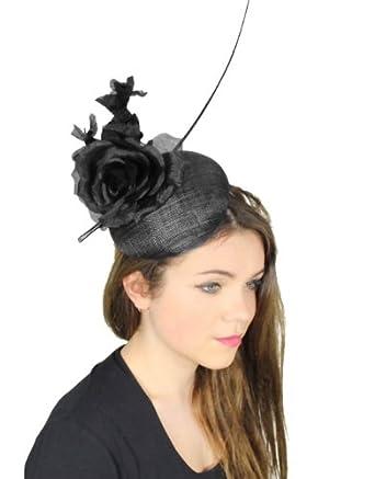 Modernista Sinamay Ascot Fascinator Hat - With Headband