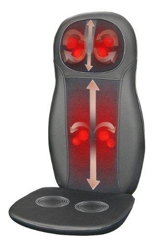 Cheap Zyllion ZMA-14-BK Shiatsu Massage Cushion with Heat (Black)- One Year Warranty