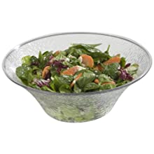 Carlisle SB9007 Clear 3.3 Quart Pebbled Bowl (Case of 4)
