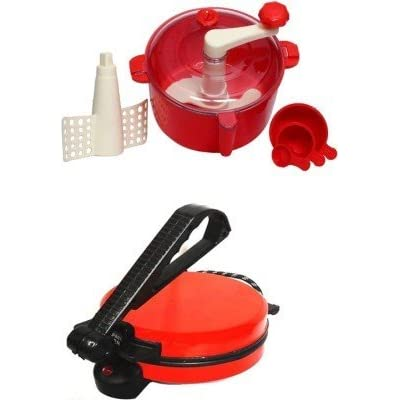 NON-STICK RED ROTI MAKER WITH DOUGH MAKER