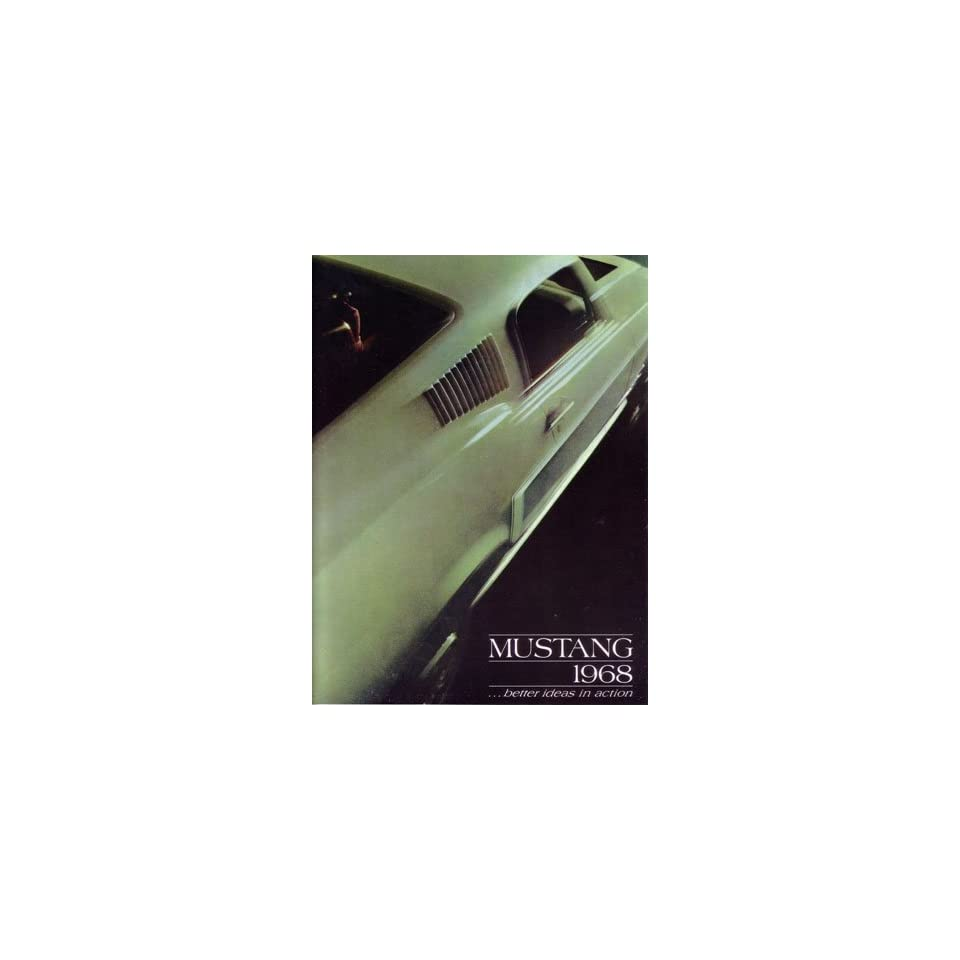 1968 FORD MUSTANG Sales Brochure Literature Book Piece
