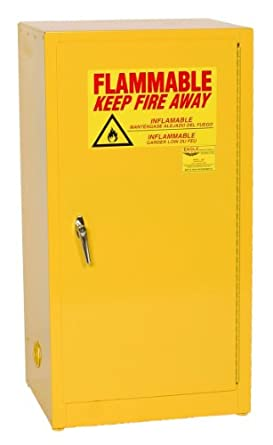 Eagle Safety Cabinet for Flammable Liquids, 1 Manual Door, Steel, Yellow