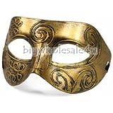 Mens Adult Masquerade Greek Roman Facial Mask For Fancy Dress Masked Ball Goldern