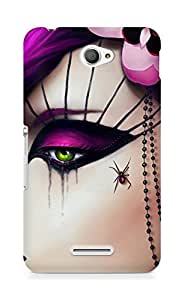 Amez designer printed 3d premium high quality back case cover for Sony Xperia E4 (Girly 1)