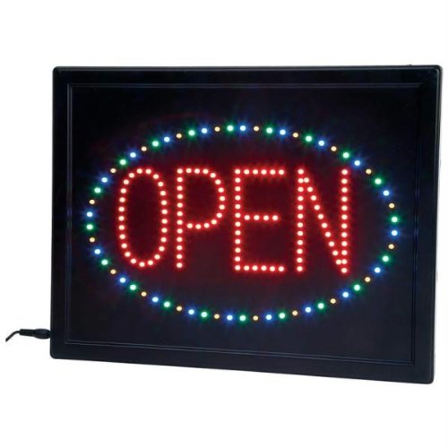 """Mitaki-Japan® Open 4-Color Programmed Led Sign With A """"Free"""" Mini First Aid Kit (Our Choice Of Color)"""