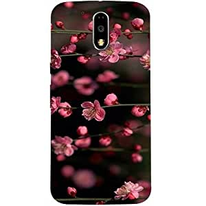 Casotec Pink Flowers Design Hard Back Case cover for Motorola Moto G4 Plus
