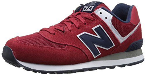 New Balance NBML574VBA Sneaker, Uomo, Rosso (Red/Navy D), 42.5