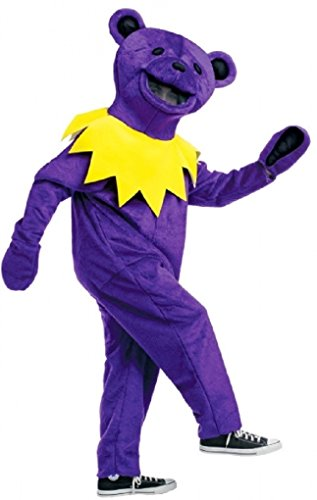 Grateful Dead Dancing Bear Costume Color: Purple (Greatful Dead Bear)