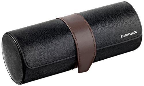 Earnshaw Men'S Black Leather Watch Roll