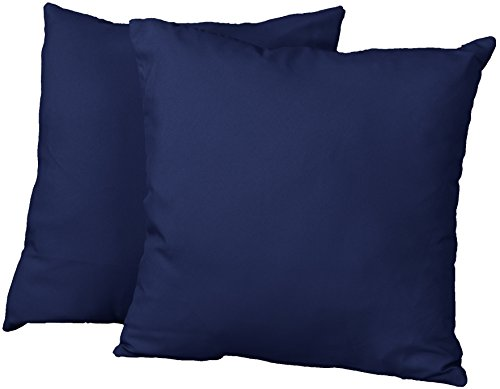 Epic Furnishings Square Decorative Throw Pillows, 18-Inch, Twill Navy, Set Of 2 front-633360