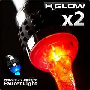 H2Glow(tm)   LED Faucet Light   Temperature Sensitive   2 Pack