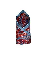 Leonardi Men's Pocket Square (LEO-PS12_Blue_Free Size)