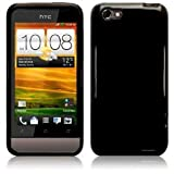 HTC ONE V BLACK GEL SKIN CASE / COVER