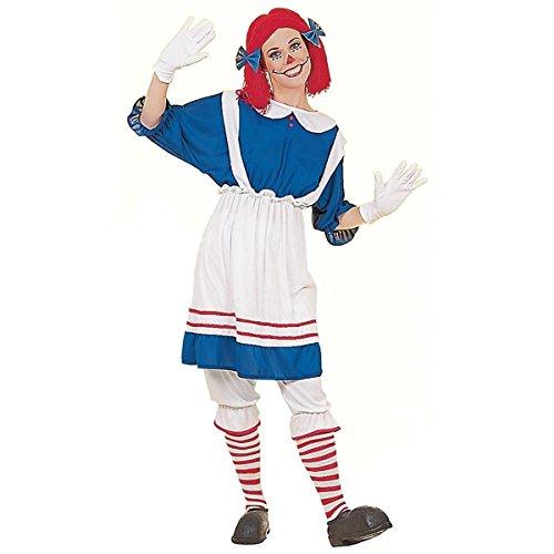 GSG Adult Rag Doll Girl Costume Adult Halloween Fancy Dress (Gothic Rag Doll Costume Plus Size)