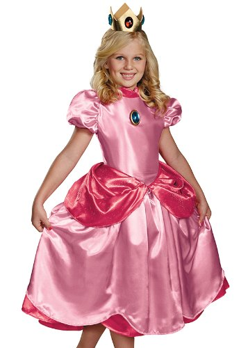 Disguise Nintendo Super Mario Brothers Princess Peach Deluxe Girls Costume