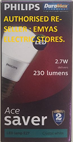 Philips-Ace-Saver-E14-2.7W-230-Lumens-LED-Bulb-(Cool-White,-Pack-of-2)